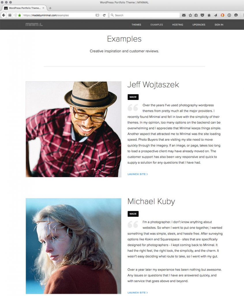 Philadelphia commercial photographer reviews wordpress portfolio minimal wordpress photography templates pronofoot35fo Images